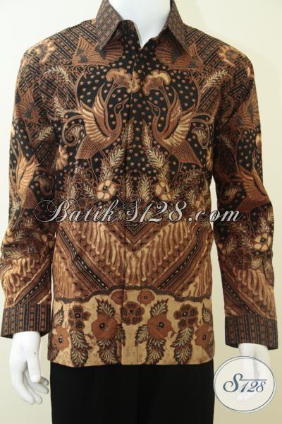 Baju Batik Pria Online, Motif Burung, Warna Klasik, Batik Pejabat Kelurahan Kecamatan Kabupaten Kota [LP1966KTF-L]