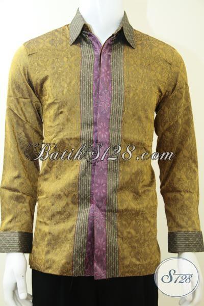 Baju Kemeja Premium Pria Istimewa, Pakaian Tenun Mewah Mahal Berkelas Tampil Gagah Bak Pejabat Tinggi, Size M