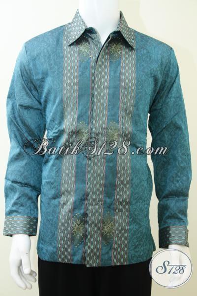 Baju Tenun Bahan Sutra Berkwalitas Terbaik Tren Mode Masa Kini, Kemeja Tenun Desain Mewah Warna Bagus Trendy Dan Fashionable, Size L