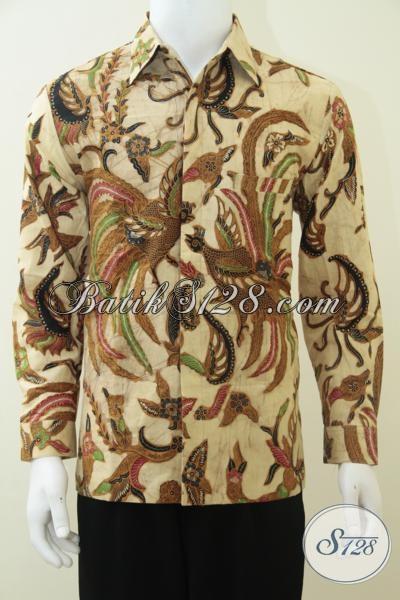 Baju Batik Pria Lengan Panjang Motif Burung Hong Lambang Keabadian, Mantap Gan [LP2356BT-M]
