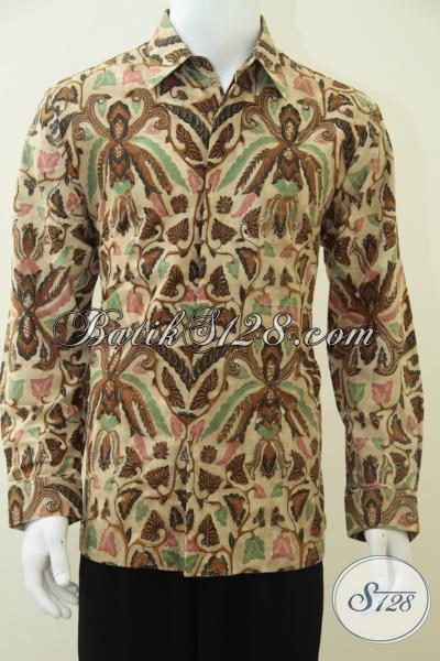 Kemeja Batik Pria Lengan PanjangMotif Pisang Bali Colet Untuk