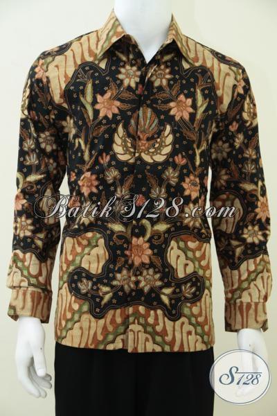 Busana Batik Tulis Premium Mahal Dan Mewah, Baju Batik Klasik Solo Untuk Pria Tampil Berkelas Bak Pejabat, Size M
