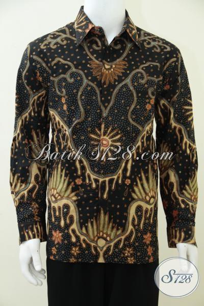 Online Shop Pakaian Batik Tulis Mewah Berkelas, Kemeja Batik Klasik Lengan Panjang Membuat Pria Terlihat Lebih Gagah Dan Berwibawa, Size L