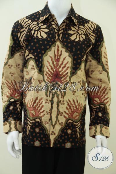 Distro Batik Solo Melayani Pembelian Online, Sedia Kemeja Batik Klasik Lengan Panjang Proses Tulis Kwalitas Bagus Dan Mewah Dengan Daleman Furing, Size L