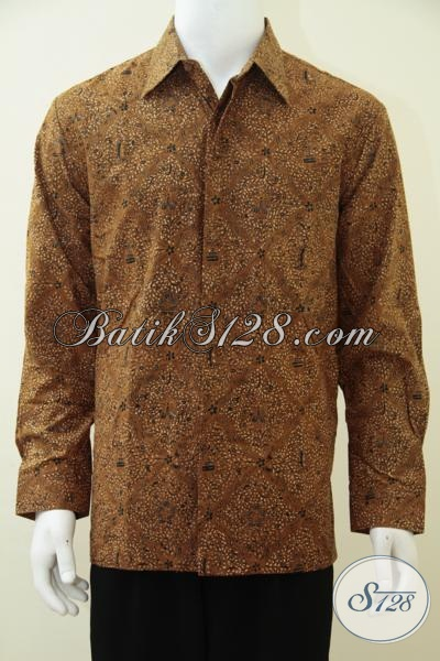 Toko Pakaian Batik Online Paling Up To Date, Sedia Kemeja Batik Lengan Panjang Mewah Full Furing, Baju Batik Motif Klasik Cocok Untuk Pria Tampil Berkarakter, Size L