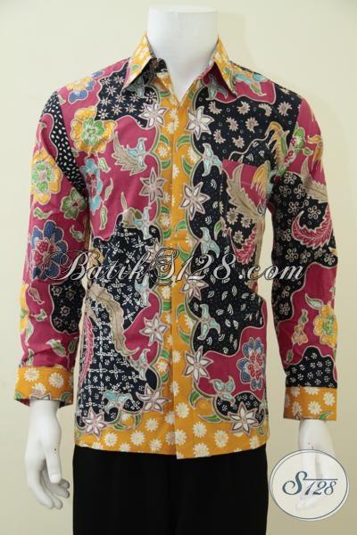 Distro Batik Online Jual Baju Batik Pria Muda Model Lengan Panjang