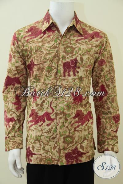 Pakaian Batik Premium Motif Klasik Modern, Baju Batik Kwalitas Mewah Proses Tulis Dengan Full Furing Untuk Pria Tampil Gagah Dan Berkarakter, Size L