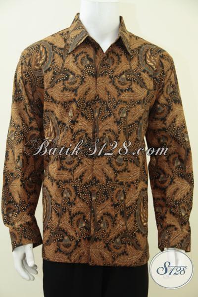 Baju Batik Kombinasi Tulis Motif Klasik Untuk Pria Dewasa Tampil