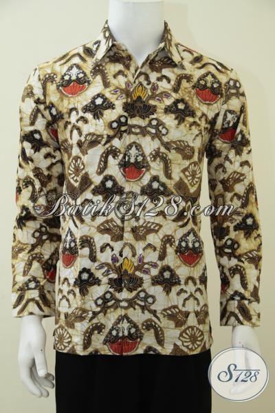 Toko Online Batik Solo Sedia Hem Batik Klasik Kombinasi Tulis Motif Unik Trend Terkini, Baju Batik Pria Muda Dan Dewasa Untuk Tampil Gagah Berwibawa, Size M