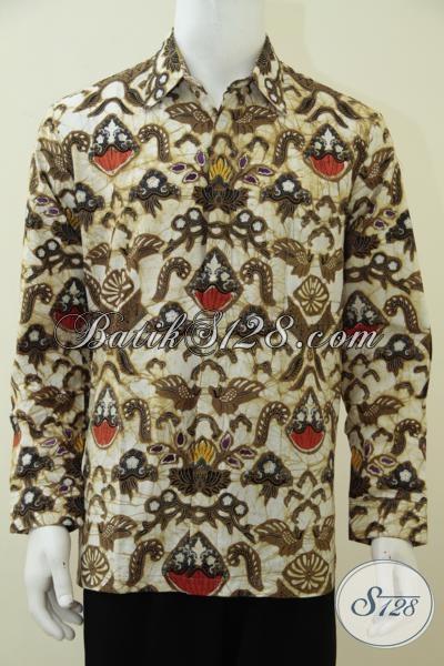 Jual Baju Batik Lengan Panjang Bagus Kain Tidak Panas Nyaman Di Pakai, Agen Batik Solo Online Melayani Dropship Ke Seluruh Indonesia [LP2885BT-L]