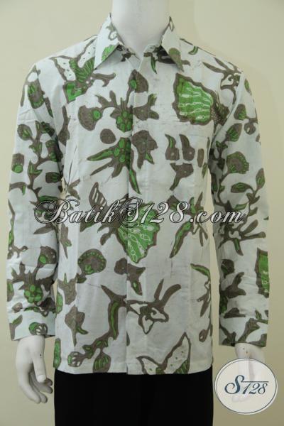 Toko Baju Batik Solo Terkenal Murah Dan Lengkap, Sedia BajuBatik Klasik Kombinasi Tulis Model Lengan Panjang, Cocok Untuk Rapat Dan Kondangan, Size L