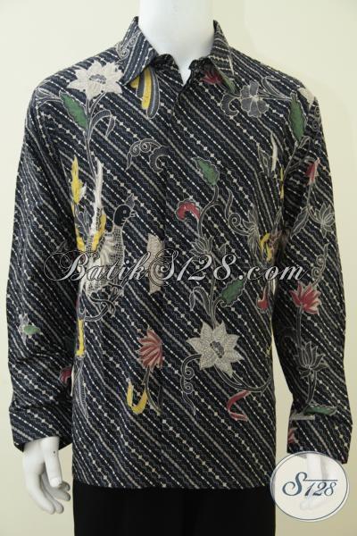 Baju Batik Trendy Motif Unik Dengan Warna Dasar Hitam Pria Tampil Elegan 3921b7b129