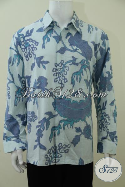 Kemeja Batik Lengan Panjang Khas Solo Jawa Tengah, Baju Batik Kombinasi Tulis Berbahan Halus Kwalitas Premium Dengan Harga Minimum, Cocok Untuk Kerja Maupun Kodangan [LP2907BT-XL]