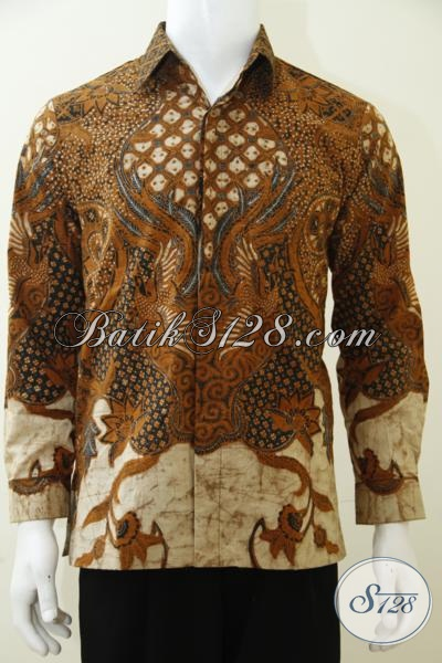 Busana Batik Klasik Model Lengan Panjang Untuk Pria Dewasa, Hem Batik Premium Dilengkapi Daleman Full Furing Lebih Nyaman di Pakai sehari-Hari [LP3003BTF-S]