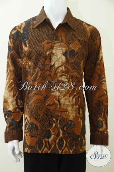 Busana Batik Klasik Lengan Panjang Full Daleman Furing, Baju Batik Kombinasi Tulis Kwalitas bagus Yang pas Buat Kerja Maupun Kondangan, Size XL