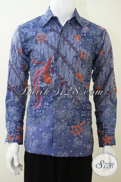 Kemeja Batik Paling Keren Saat Ini, Busana Batik Berbahan Sutra Proses Tulis Tangan Dengan Full Furing Mewah Dan Mahal, Size M