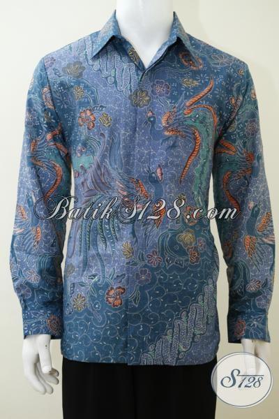Jual Baju Batik Pejabat Mewah Berbahan Sutra Proses Tulis Tangan, Pakaian Batik Premium Full Furing Harga Mahal Model Lengan Panjang, Size L