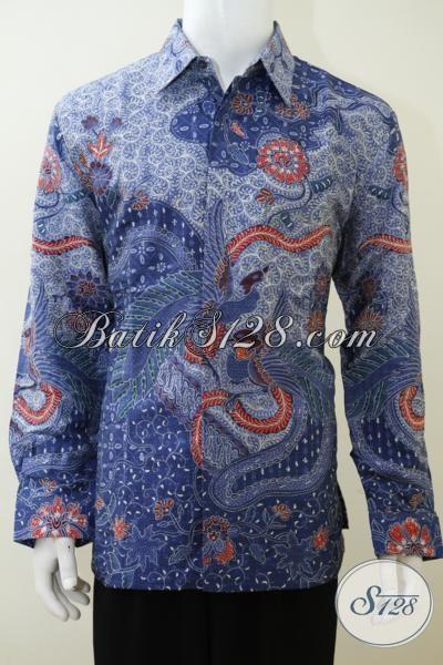 Kemeja Batik Sutra Size XL Baju Batik Bahan Sutra Full Daleman