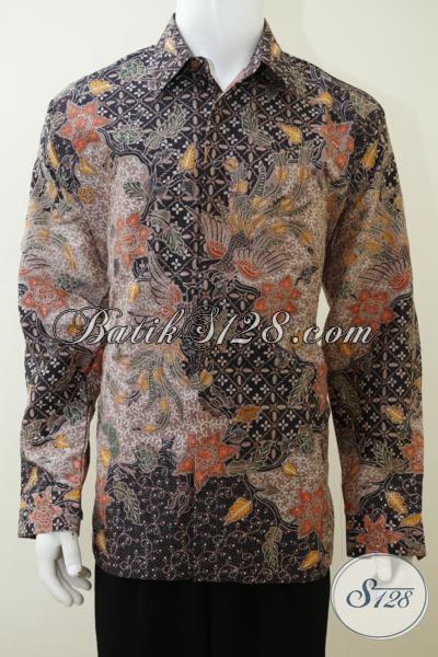 Busana Batik Sutra Ukuran Jumbo Motif Klasik Trend Terkini, Baju Batik Daleman Full Furing Proses Tulis Tampil Mewah Dan Berkelas Tinggi, Size XXL