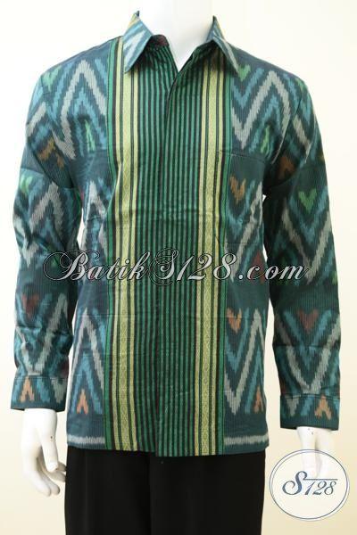 Online Shop Aneka Pakaian Tenun Mewah Berkwalitas Premium, Sedia Hem Tenun Motif Terbaru Lebih Mewah Dengan Daleman Furing Yang Nyaman Di Pakai [LP3269NF-L]