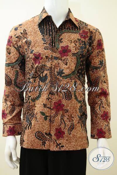 Baju Batik Klasik Untuk Cowok Tampil Elegan, Hem Batik Lengan Panjang Full Furing Proses Kombinasi Tulis Lebih Mewah Dan Berkelas [LP3277BTDF-M]