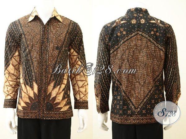 Online Shop Batik Lengan Panjang Mewah Buatan Solo, Pakaian Batik Full Furing Premium Halus Lelaki Lebih Berkelas, Size M