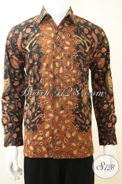 Hem Batik Mewah Buat Pria Karir Sukses, Baju Batik Lengan Panjang Proses Tulis Tangan, Batik Khas Pejabat Full Furing  Untuk Tampil Lebih Berwibawa, Size M