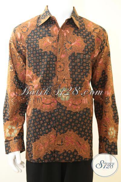 Baju Batik Full Daleman Furing Mewah Proses Tulis Tangan, Kemeja Batik Tulis Premium Harga Mahal Kesuakaan Pejabat Dan Elit Partai, Size XL