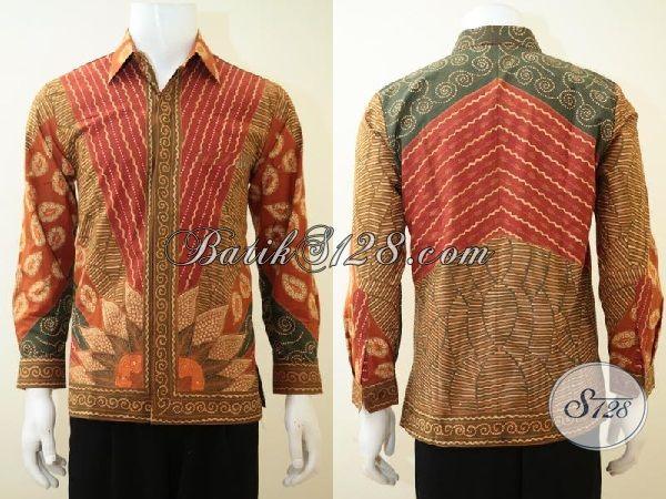 Toko Pakaian Batik Solo Online Lengkap Pilihannya Dan Murah Harganya, SEdia Batik Lengan Panjang Klasik Full Furing Untuk Seragam Kerja Mewah, Size S