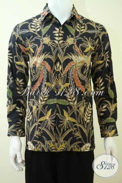 Beli Busana Batik Lengan Panjang Bagus Harga Terjangkau, Kemeja Batik Kombinasi Tulis Asli Produk Pengerajin Solo [LP3371BT-M]