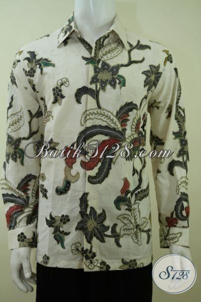 Busana Batik Lengan Panjang Pria Karir Aktif, Kemeja Batik Kwalitas Premium Kombinasi Tulis Motif Trend Terkini [LP3373BT-L]