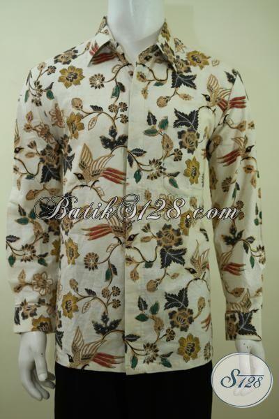 Pedagang Busana Batik Solo Oline, Jaul Baju Batik Pria Terbaru Model Lengan Panjang Dengan Motif Modern Yang Trendy Serta Fashionable [LP3375BT-L]