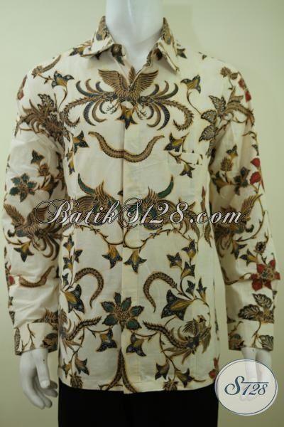 Pusat Pakaian Batik Online Terlengkap, Jual Hem Batik Klasik Keren Dengan sentuhan Modern, Baju Batik Kombinasi Tulis Model Lengan Panjang Sempurnakan Penampilan Cowok Macho [LP3376BT-XL]