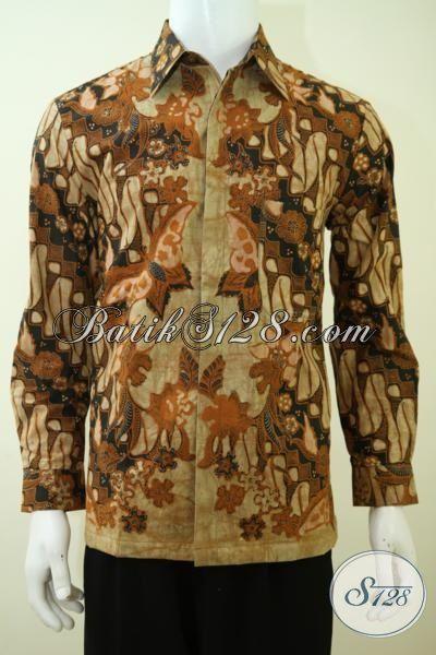 Baju Batik Klasik Lengan Panjang Untuk Cowok Modern, Busana Batik Full Furing Mewah Tampil Lebih Berkarakter [LP3380BTF-M]