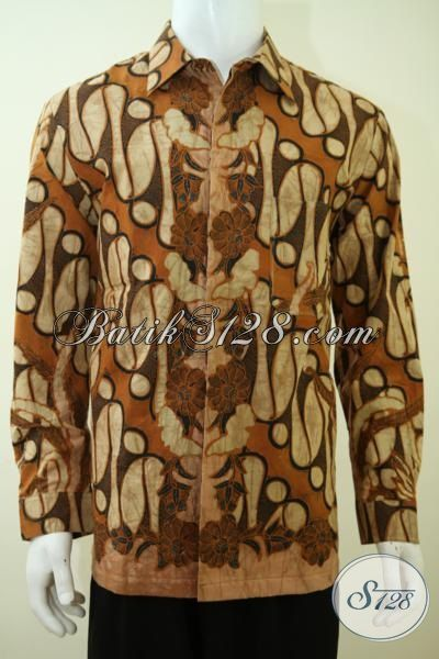 Jual Baju Batik Klasik Mewah Premium, Pakaian Batik Lengan Panjang Full Daleman Furing Motif Klasik Cocok Untuk Para Executive Muda [LP3382BTF-XL]