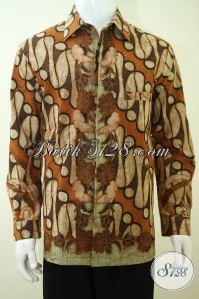 Batik Pakian Kerja Premium Motif Klasik, Baju Batik Kombinasi Tulis, Busana Batik Pria Dewasa Full Furing Tampil Gagah Berkarakter, Size L – XL – XXL