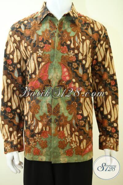 Sedia Aneka Pakaian Batik Premium Untuk Pria, Busana Batik Motif Klasik Bagus Dan Halus Dilengkapi Daleman Furing Menambah Kesan Mewah [LP3385BTF-XL]