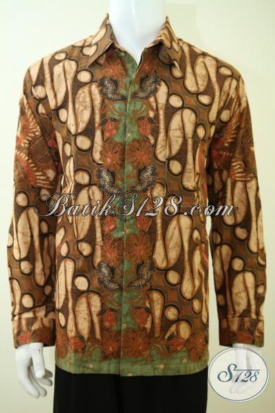 Jual Online Busana Batik Klasik Lengan Panjang, Pakaian Batik Para Executive Untuk Tampil Gagah Dan Berkelas [LP3386BTF-XL]