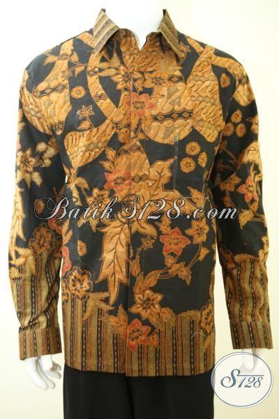 Jual Kemeja Batik Klasik Premium Harga Mahal, Baju Batik Seragam Kerja Para Executive Masa Kini Yang Dilengkapi Daleman Furing Seperti Jas, Size XXL