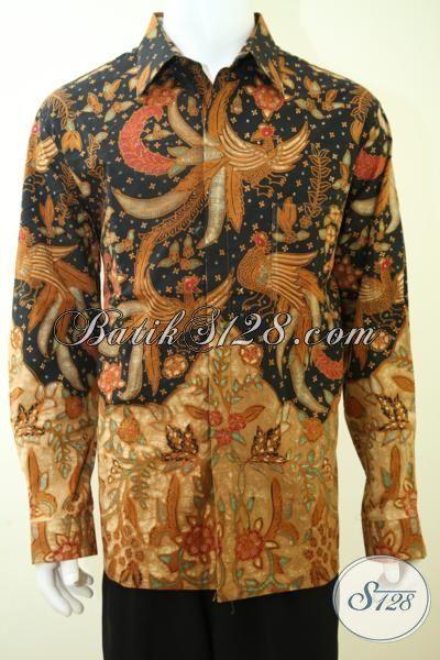 Busana Batik Lengan Panjang Klasik Full Furing, Hem Batik Solo Proses Tulis Halus Mewah, Batik Seragam Kerja Para Executive Perusahaan Dan Pemangku Jabatan, Size XXL