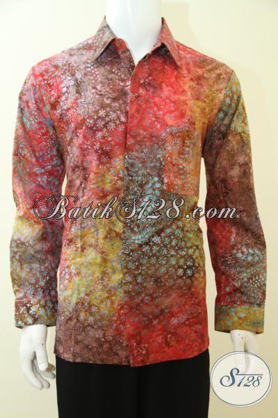 Distro Pakaian Batik Solo Online Terlengkap, Sedia Batik Lengan Panjang Warna Gradasi Pas Buat seragam Kerja Dan Cocok Untuk Baju Pesta Yang Keren [LP3454CS-L]
