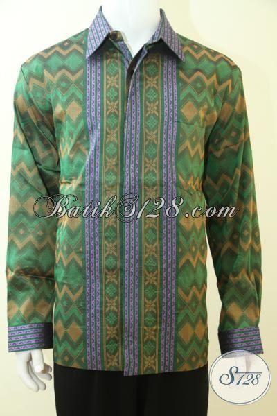 Jual Pakaian Tenun Trend Terbaru, Hem Tenun Tiga Dimensi Keren Dan Mewah, Baju Tenun Lengan Panjang Full Furing  Tampil Gagah Berwibawa, Size XL
