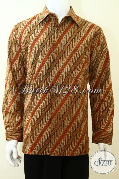 Busana Batik Parang Paling Laris, Hem Batik Lengan Panjang Full Furing, Batik Kerja Kwalitas Bagus Harga Terjangkau, Size L
