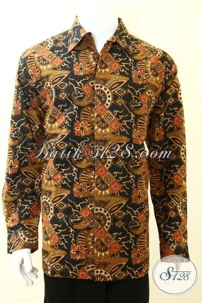 Sedia Pakaian Batik Jumbo Untuk Pria Gemuk Model Lengan Panjang, Hem Batik Kerja Motif Mewah Dengan Daleman Full Furing [LP3480CTF-XXL]