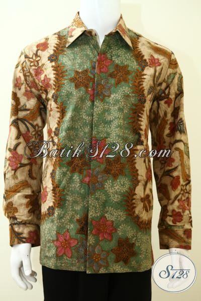 Pakaian Batik Cowok Modern Motif Klasik Lengan Panjang, Busana Batik Mewah Full Furing Untuk Menunjang Penampilan Pria Lebih Berkarakter [LP3485TF-L]
