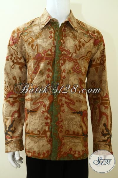 Busana Batik Tulis Motif Modern Mewah Pas Buat Executive Muda Masa Kini, Baju Batik Full Furing Trendy Cocokl Untuk Seragam Kantor [LP3490TF-XL]