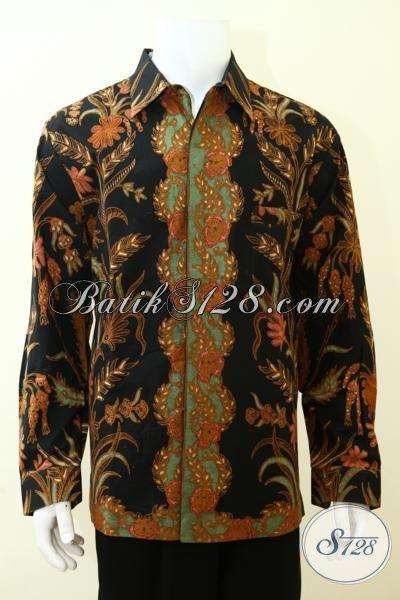 Toko Pakaian Batik Online Paling Up To Date, Sedia Busana Batik Mewah Klasik Lengan Panjang Full Furing [LP3491TF-XL]