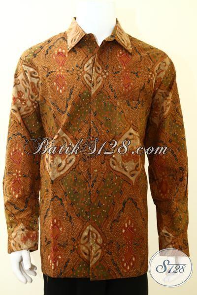 Pakaian Batik Pria Paling Keren Saat Ini, Hem Batik Klasik Proses Tulis Tangan Kwalitas Bagus Keren Dan Mewah [LP3494TF-XXL]