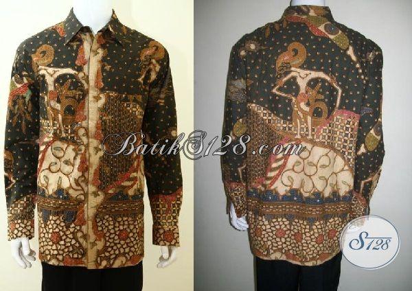 Kemeja batik Wayang Proses Tulis Full Furing Mewah, Pakaian Batik Tradisional Jawa memabuta Pria Tampil Elegan Dan Gagah [LP3495TF-XXL]