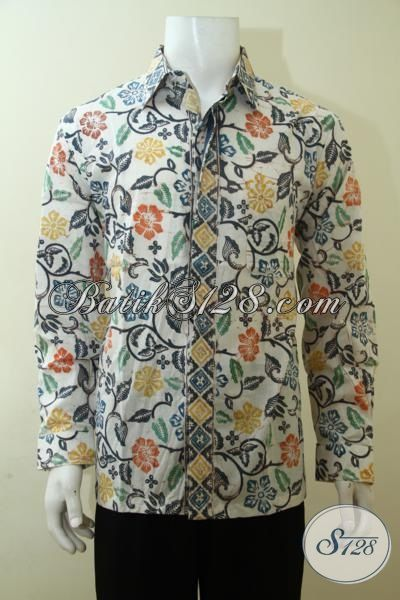 Busana Batik Elegan Model Lengan Panjang, Baju Batik Cap Bledak Istimewa Membuat Pria Lebih Gagah Berwibawa, Size L – XL